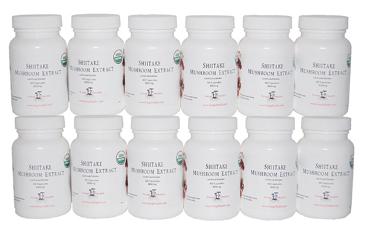 Shiitake Medicinal Mushroom Extract - 1 Year Supply