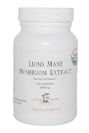 Lions Mane Medicinal Mushroom Extract - 60 Capsules